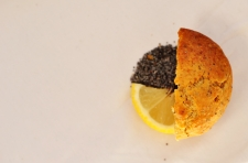 lemon and blue poppy seed muffins