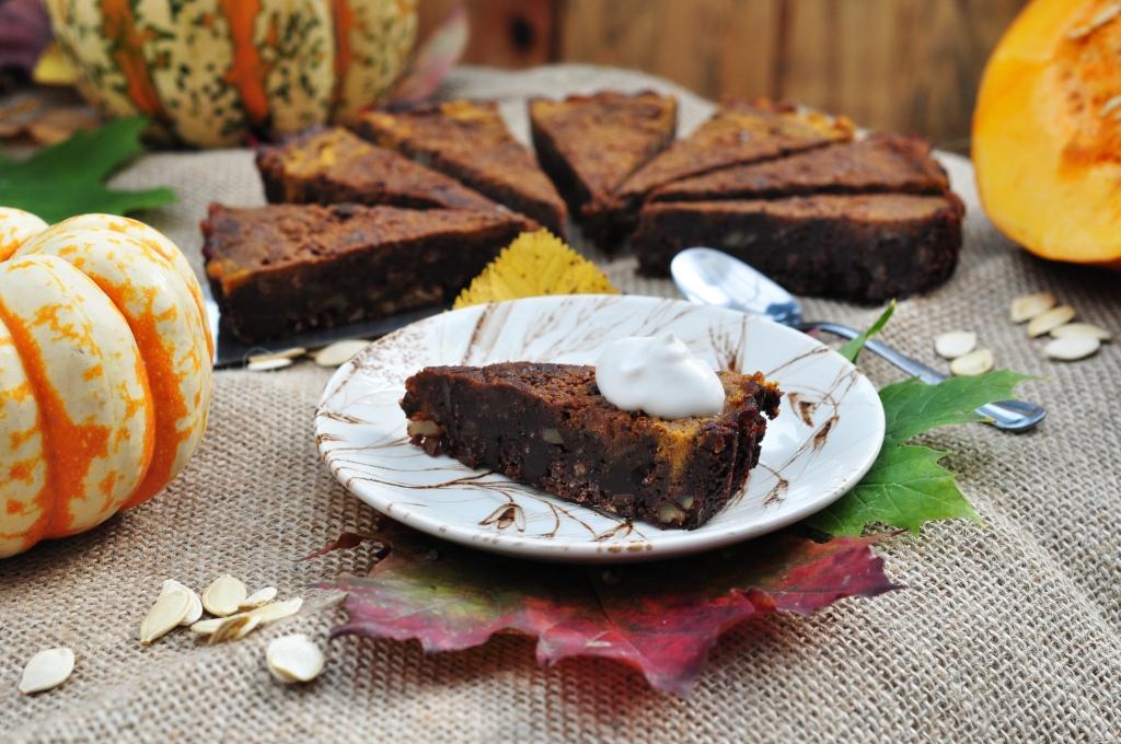 vegan pumpkin brownie